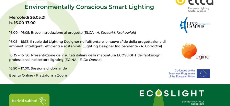 Ecoslight - LCU è partner del progetto - 26 maggio 2021